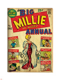 Marvel Comics Retro: Millie the Model Comic Book Cover No.1, the Big Annual (aged) Plastskilt