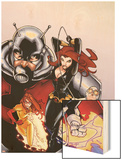 Onslaught Unleashed No.2 Cover: Black Widow, Gravity, Firestar, and Ant-Man Running Wood Print by Humberto Ramos