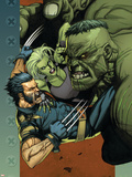 Ultimate Wolverine vs. Hulk No.4 Cover: Wolverine, Hulk and She-Hulk Plastic Sign by Leinil Francis Yu