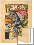 War Of Kings: Darkhawk No.2 Cover: Darkhawk, Hobgoblin and Spider-Man Wood Print by Mike Manley