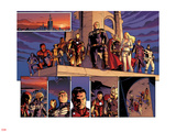 Fear Itself No.1: Spider Woman, Spider-Man, Wolverine, Iron Man, Steve Rogers, Thor and Others Plastic Sign by Stuart Immonen