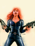 Black Widow No.6 Cover: Black Widow Wall Decal by Sean Phillips