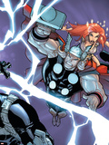 Avengers vs. Atlas No.2 Cover: Thor Plastic Sign by Humberto Ramos