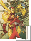 Astonishing Tales No.3 Cover: Spider Woman and Iron Man Wood Print by Kenneth Rocafort