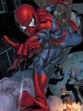 Heroes For Hire No.6: Spider-Man Swinging Plastic Sign by Brad Walker