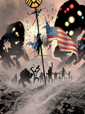 The Ultimates 2 No.10 Cover: Marvel Universe Plastic Sign by Bryan Hitch