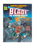 Blade The Vampire Slayer No.3 Cover: Blade Plastic Sign