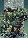 Ultimate Wolverine vs. Hulk No.5 Cover: Wolverine and Hulk Plastic Sign by Leinil Francis Yu