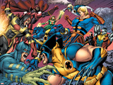 Eternals No.8 Group: Wolverine, Ikaris, Beast, Vampiro, Eramis and Druig Plastic Sign by Eric Nguyen