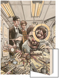 Omega: The Unknown 6 Cover: Marvel Universe Wood Print by Farel Dalrymple