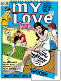 Marvel Comics Retro: My Love Comic Book Cover No.16, Tennis, Pathos and Passion Prints