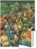 Secret Invasion Saga Cover: Daredevil Wood Print by Leinil Francis Yu