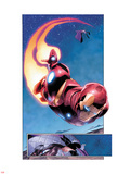 AVX: Vs No.1: Panels with Iron Man Flying Plastic Sign by Adam Kubert