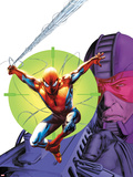 Heroes For Hire No.6 Cover: Spider-Man and Paladin Plastic Sign by Doug Braithwaite