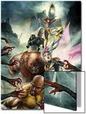 Thunderbolts No.157 Cover: Luke Cage, Songbird, Juggernaut, Ghost, Moonstone, and Satana Prints by Jean-Sebastien Rossbach