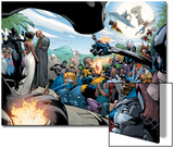 Black Panther Annual No.1 Group: Marvel Universe Print by Larry Stroman