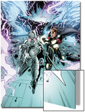Annihilators No.2: Ikon and Quasar Fighting and Running from a Tornado Storm Prints by Tan Eng Huat