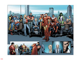 House of M MGC No.1: Captain America, Carol Danvers, Wonder Man, Professor X, Iron Man and Others Plastic Sign by Olivier Coipel