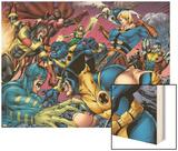 Eternals No.8 Group: Wolverine, Ikaris, Beast, Vampiro, Eramis and Druig Wood Print by Eric Nguyen