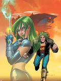 Doc Samson No.3 Cover: Doc Samson and Scorpion Plastic Sign by Amanda Conner
