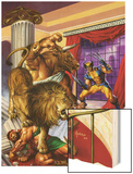 Wolverine/Hercules: Myths, Monsters & Mutants No.2 Cover: Wolverine and Hercules Fighting Wood Print by Joe Jusko