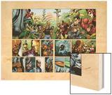Secret Invasion No.1 Group: Iron Fist, Cage, Luke, Iron Man and Wonder Man Wood Print by Leinil Francis Yu