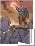 Thanos No.9 Cover: Thanos Wood Print by Keith Giffen