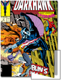 War Of Kings: Darkhawk No.2 Cover: Darkhawk, Hobgoblin and Spider-Man Prints by Mike Manley