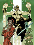 Defenders No.6 Cover: Misty Knight and Iron Fist Plastic Sign by Terry Dodson
