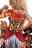 Fearless Defenders 3 Cover: Valkyrie, Misty Knight, Hippolyta Plastic Sign by Mark Brooks