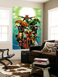 Age of Ultron 7 Cover: Dr. Strange, Thing, Hulk, Wolverine, Cable, Nick Fury, Wasp, Star-Lord Wall Mural by Brandon Peterson
