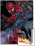 Heroes For Hire No.6: Spider-Man Swinging Posters by Brad Walker