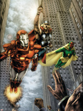 Marvels: Eye Of The Camera No.4 Cover: Iron Man, Thor and Vision Plastic Sign by Jay Anacleto