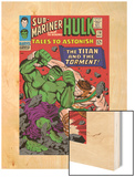 Tales To Astonish No.79 Cover: Hulk and Hercules Wood Print by Reilly Brown