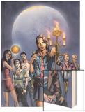 Spellbinders 1 Cover: Vesco and Kim Wood Print by Mike Perkins