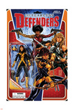 Fearless Defenders 2 Cover: Moonstar, Knight, Misty, Valkyrie Wall Decal by Mark Brooks