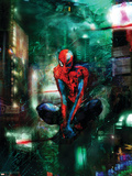 Timestorm 2009/2099 No.1 Cover: Spider-Man Plastic Sign by Christopher Shy
