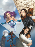 The Pulse No.14 Cover: Knightress, Jones, Jessica, Cage, Luke and Jewel Plastic Sign by Mike Mayhew