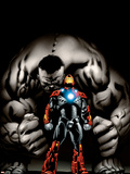 Ultimate Human No.4 Cover: Iron Man and Hulk Wall Decal by Cary Nord