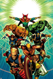 Age of Ultron 7 Cover: Dr. Strange, Thing, Hulk, Wolverine, Cable, Nick Fury, Wasp, Star-Lord Plastic Sign by Brandon Peterson