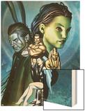 Inhumans No.12 Cover: Alaris, San, Tonaja, Nahrees and Inhumans Wood Print