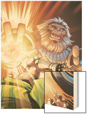 Doctor Doom and The Masters of Evil No.3 Cover: Blastaar Wood Print by Karl Kerschl