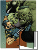 Ultimate Wolverine vs. Hulk No.4 Cover: Wolverine, Hulk and She-Hulk Art by Leinil Francis Yu