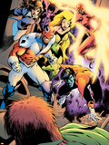 Clandestine No.2 Group: Nightcrawler, Captain Britain, Shadowcat, Meggan, Summers and Rachel Plastic Sign by Alan Davis