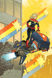 Captain Marvel 12 Cover: Captain Marvel Plastic Sign by Joe Quinones