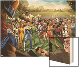 Fear Itself: Youth in Revolt No.1: Gravity, Firestar, Komodo, Hardball, Thor Girl, and Ultragirl Wood Print by Mike Norton