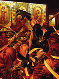 Wolverine/Hercules: Myths, Monsters & Mutants No.1 Cover: Wolverine and Hercules Fighting Plastic Sign by Joe Jusko