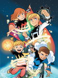 Power Pack: Day One No.1 Cover: Lightspeed, Mass Master, Zero-G and Energizer Plastic Sign by  Gurihiru