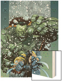 Ultimate Wolverine vs. Hulk No.5 Cover: Wolverine and Hulk Wood Print by Leinil Francis Yu