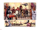 Avengers vs X-Men No.3: Captain America, Iron Man, Ant-Man, Wolverine, Black Panther, and Thing Pancarte matière plastique par John Romita Jr.